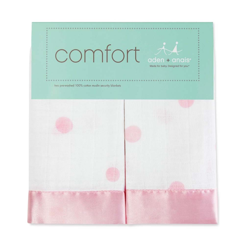 anais Classic Security Blankets Super Soft 100/% Cotton Muslin Lovie Aden by aden Washed Star 2 Pack