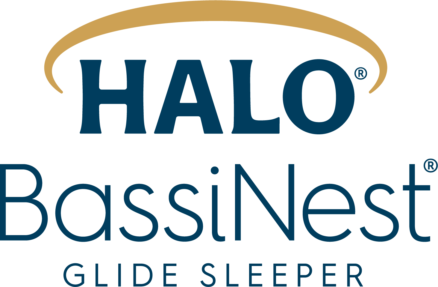 halo bassinest glide sleeper logo