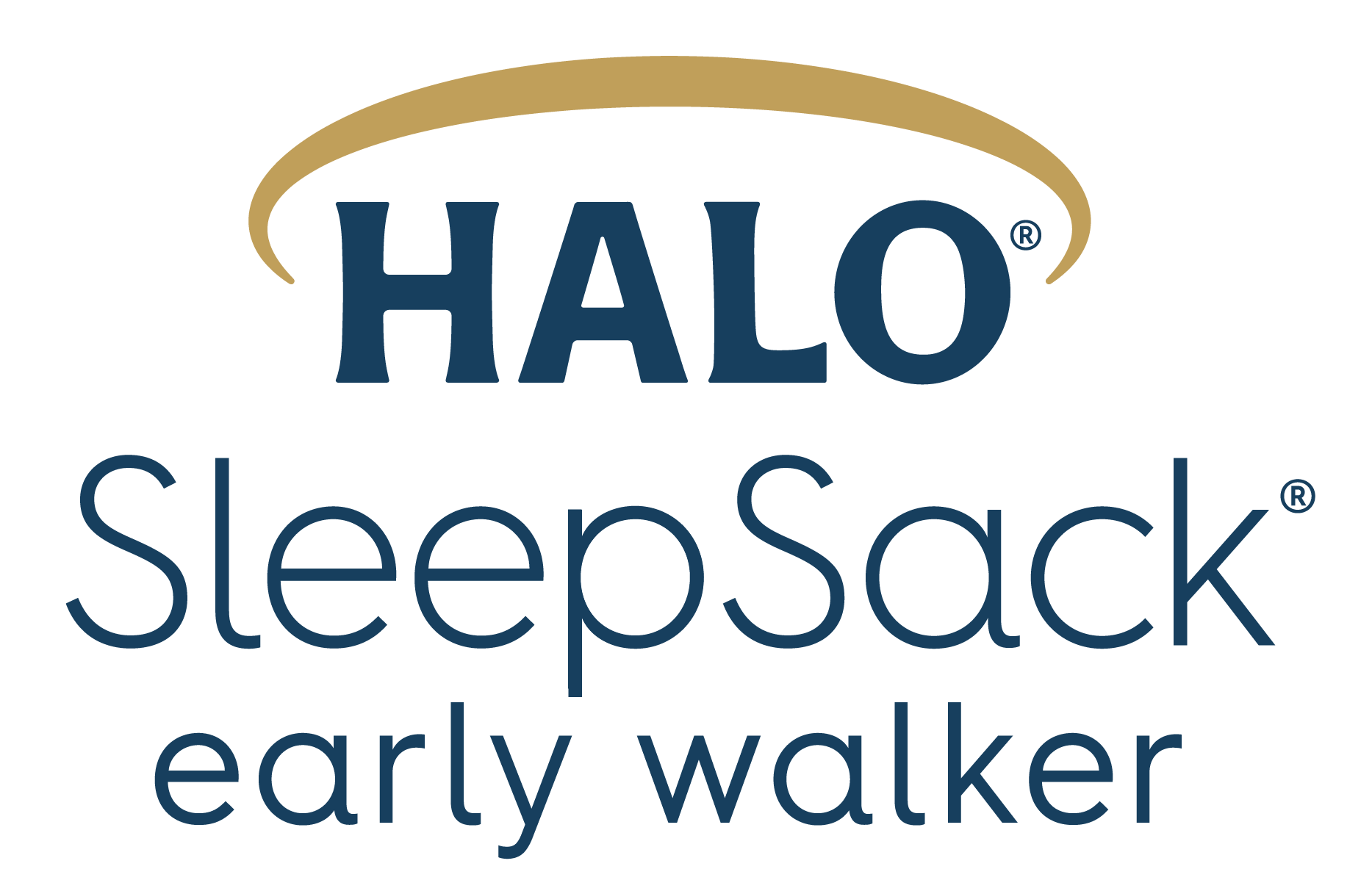 halo sleepsack early walker logo