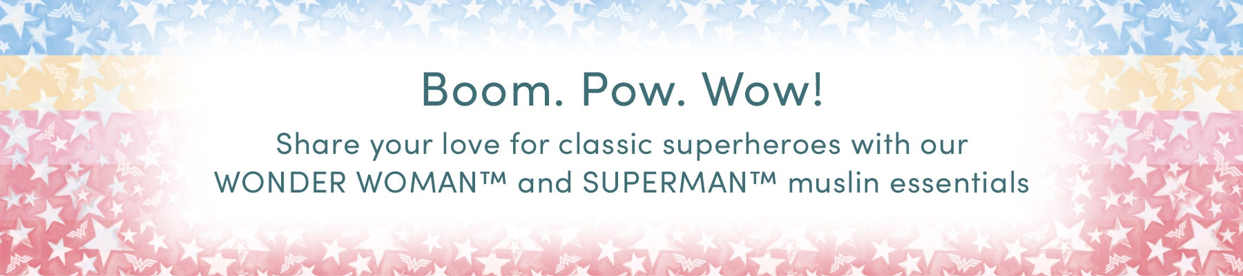 Superheroes muslin collection for babies - Aden and Anais