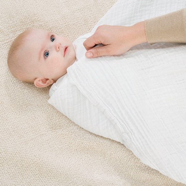 Last step in how to swaddle