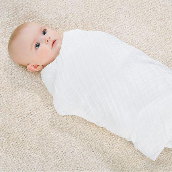 fully swaddled baby