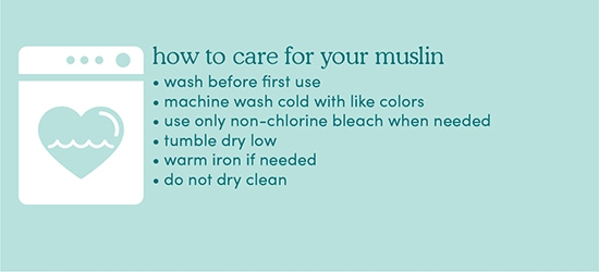 How to care for muslin - Aden and Anais