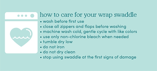 Guide how to care your wrap swaddle - Aden and Anais