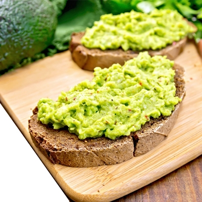 gluten-free toast with smashed avocado