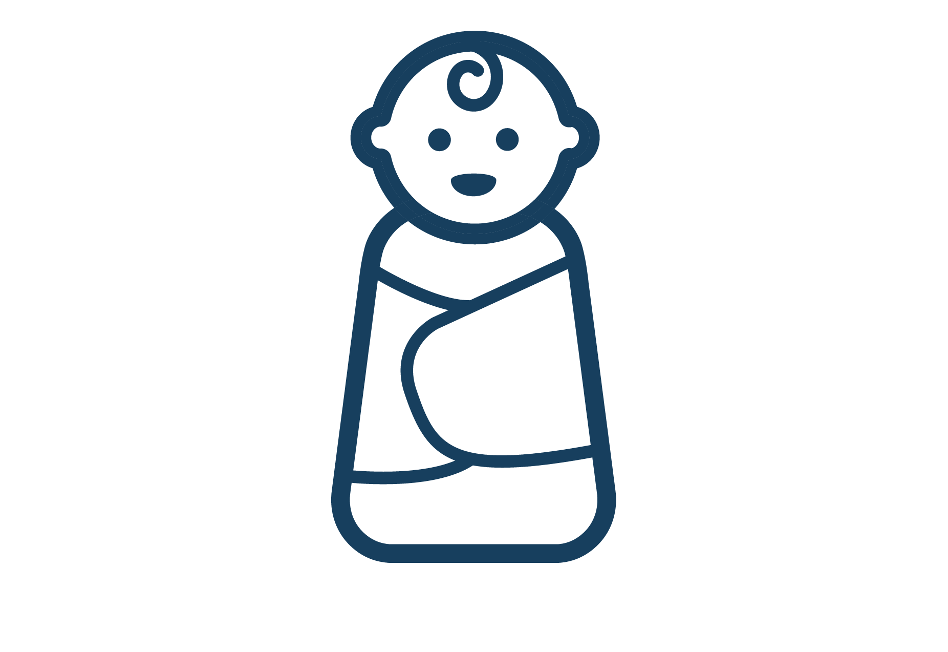 swaddled baby icon
