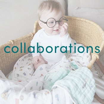 Baby in Harry Potter glasses - Aden and Anais collaborations