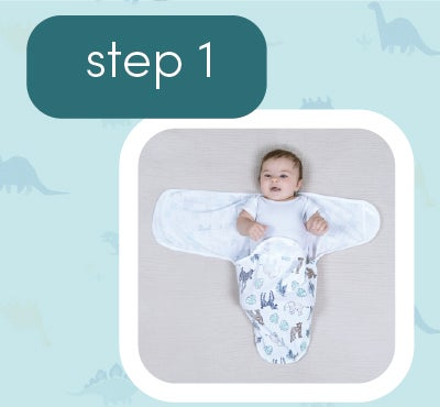 How to wrap baby - step 1