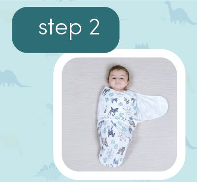 How to wrap baby - step 2