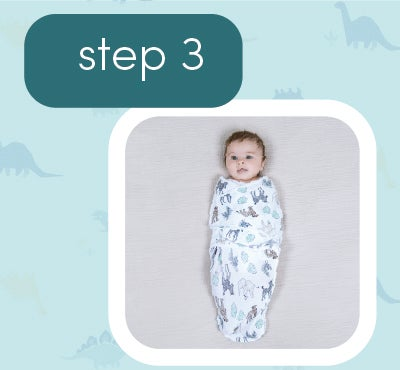 How to wrap baby - step 3