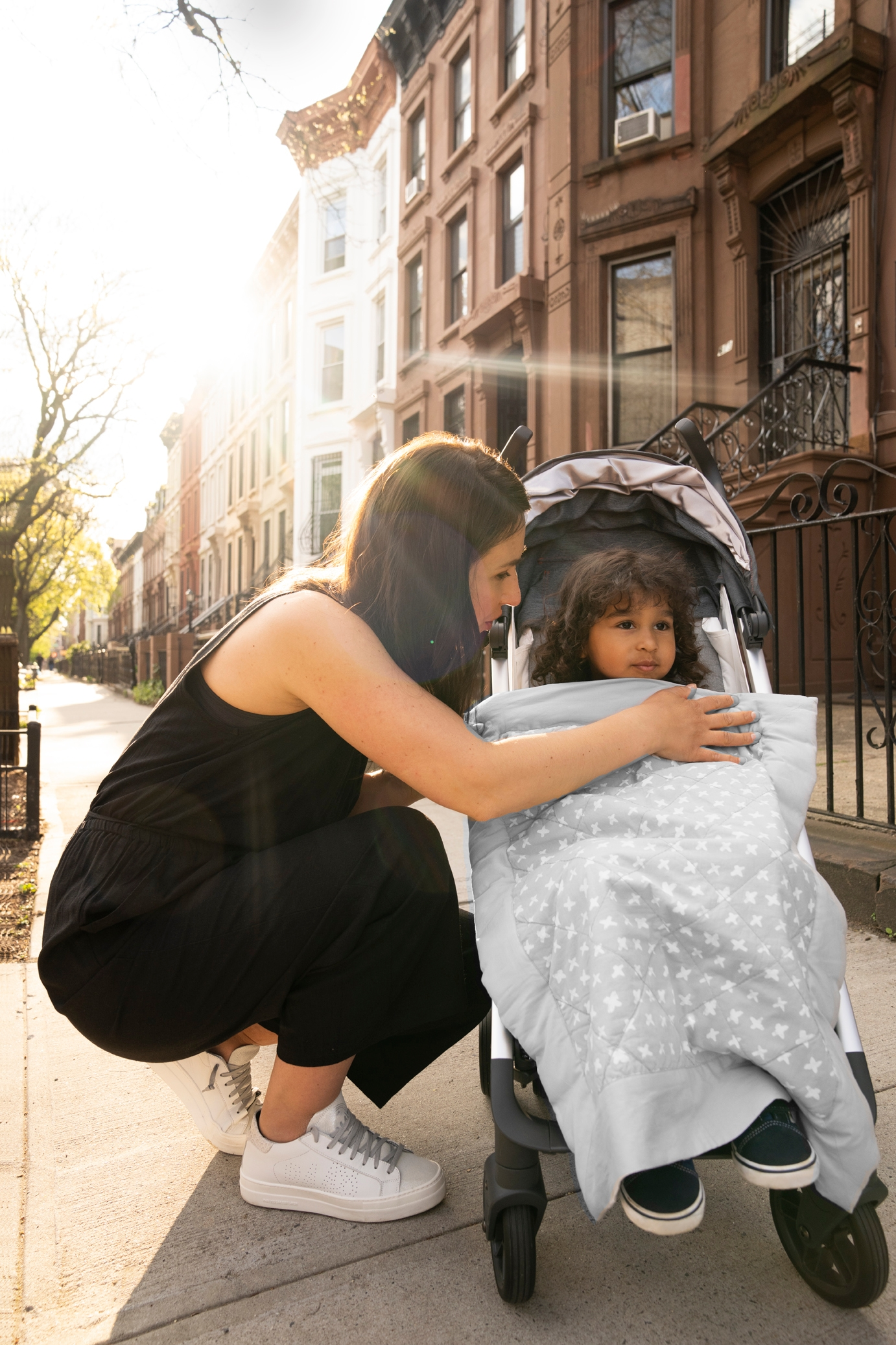 mom and baby going on a walk